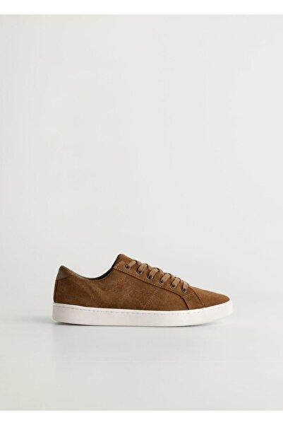 MANGO Man Bağcıklı Süet Spor Ayakkabı