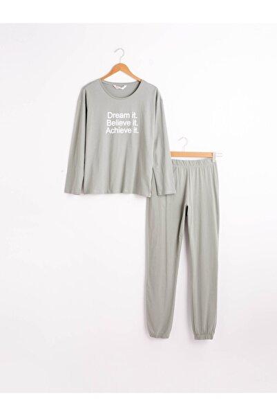 LC Waikiki Kadın Yeşil Pijama Takım