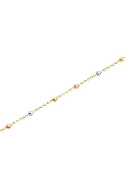Diamond Line-Gülaylar Kadın Altın 14 Ayar Toplu Bileklik