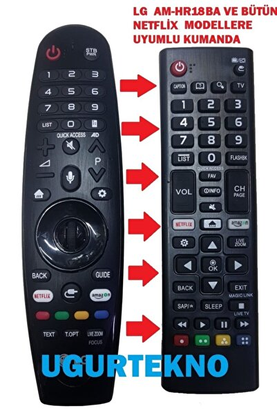 LG Am-hr18ba Ve Tüm Netflix Smart Tvlere Uyumlu Kumanda