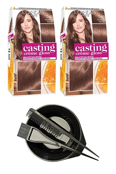 L'Oreal Paris Loreal Casting Saç Boyası 780 X2+Saç Boyama Seti