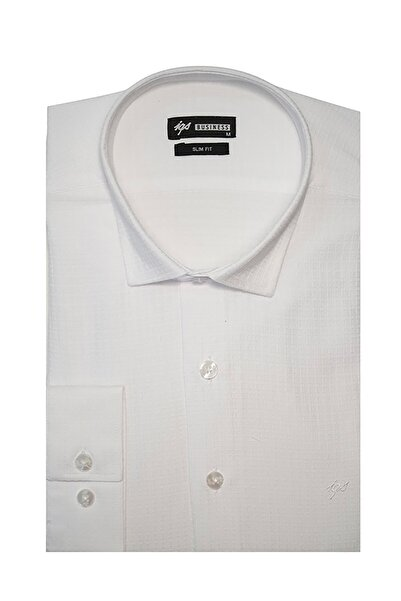 İgs Erkek Beyaz Slim Fit Ted Baker Gömlek