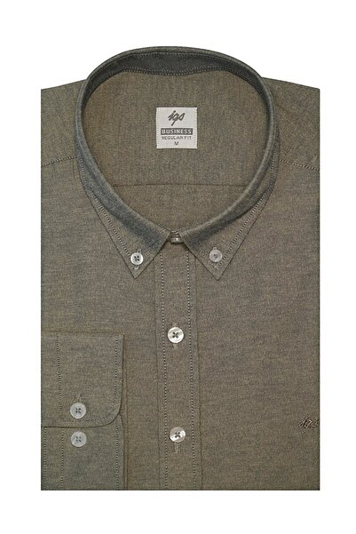 İgs Erkek Haki Regular Fit Gömlek