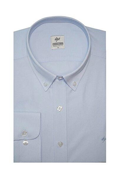 İgs Erkek Açık Mavi Regular Fit Gömlek