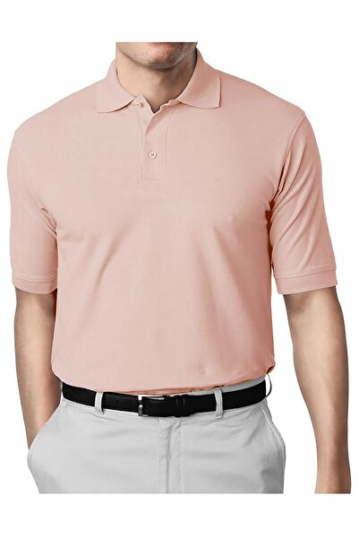 İgs Erkek Pudra Modern Fit Polo Yaka T-shirt