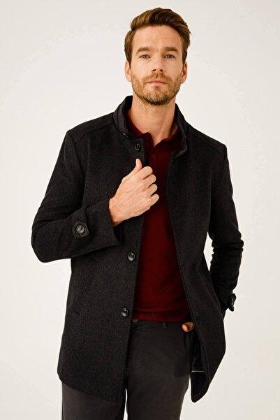 İgs Erkek Füme Slim Fit Palto