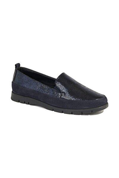 Desa Kadın Lacivert Aerocomfort Simona Günlük Deri Ayakkabı