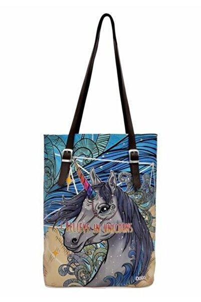Dogo Teemood I Believe In Unicorns Tallbag Omuz Çantası