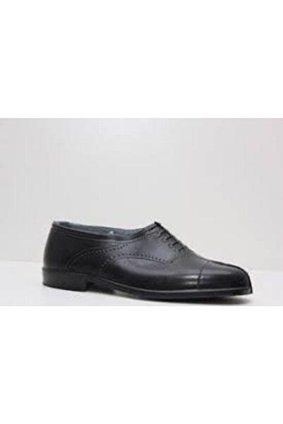 NK Erkek Siyah Düz Lastik Klasik Ayakkabı