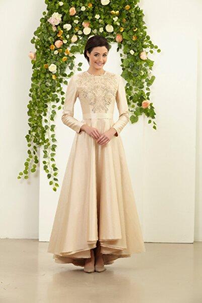 Tuay Karaca Kadın Pembe Şantuk Nişan Söz Elbisesi