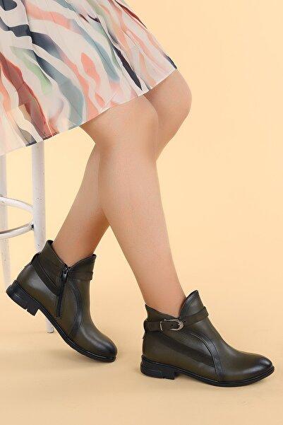 Ayakland Cilt Termo Fermuarlı Bot Ayakkabı