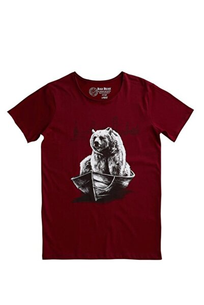 Bad Bear Erkek Bordo T-shirt