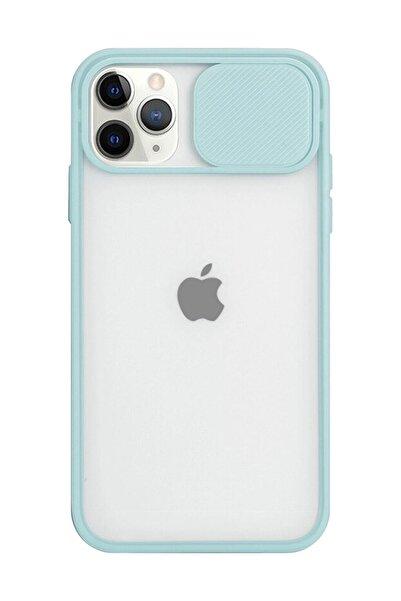 Twsbi Iphone 11 Pro Slayt Kamera Lens Korumalı Buz Mavisi Telefon Kılıfı