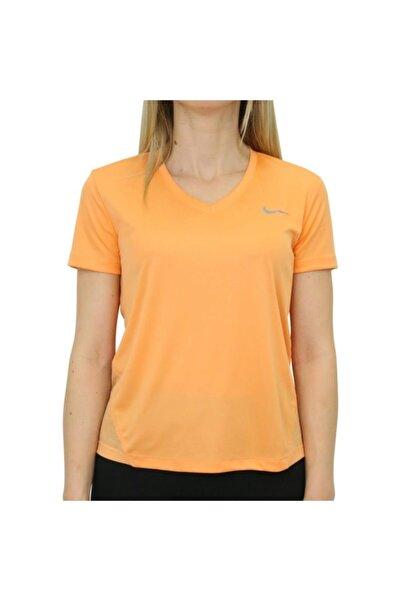 Nike Kadın Turuncu Women Running Top Tshirt At6756-882