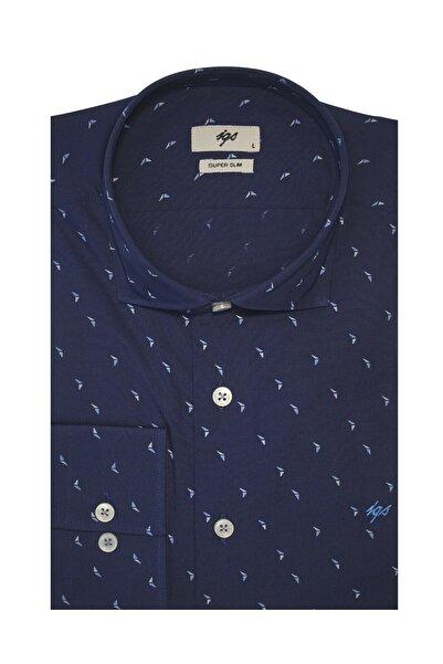 İgs Erkek Mavi Süper Slim Gömlek