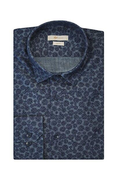 İgs Erkek Lacivert Slim Fit Exclusive Gömlek