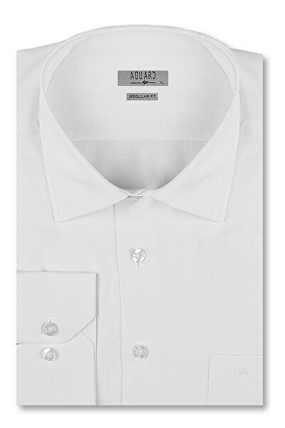İgs Erkek Beyaz Regular Fit Gömlek