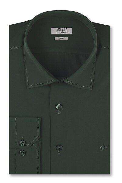 İgs Erkek Nefti Slim Fit Klasik Gömlek