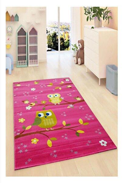 Payidar Halı Kids Amigo 8515A Pembe Baykuşlu Çocuk Halısı