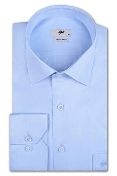 Erkek Açık Mavi Regular Fit Gömlek