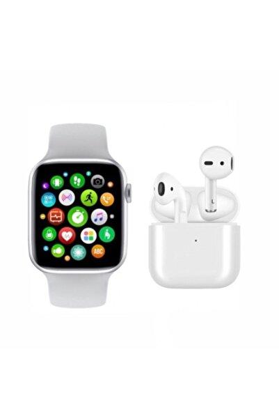 SmartWatch Akıllı Saat T500 + Airpods Pro 4 Mini Kablosuz Kulaklık İkili