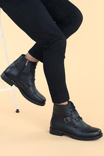 Ayakland Erkek Siyah Gomes Termo Taban Içi Kürklü Fermuarlı Bot Ayakkabı 02