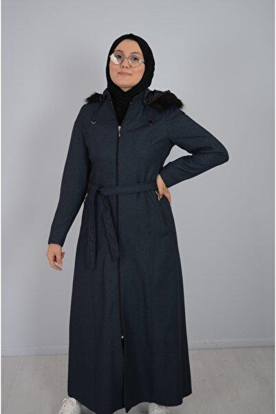 özgür giyim Kadın Mavi Kışlık Pardesü
