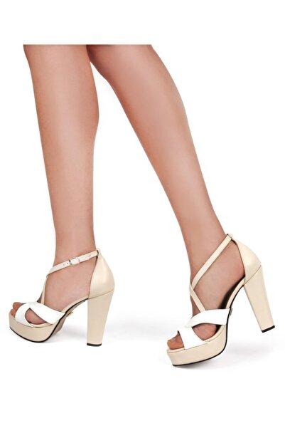 Gökhan Talay Kadın Ten Platform Topuklu Ayakkabı
