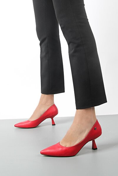 Gökhan Talay Kadın Kırmızı Topuklu Ayakkabı