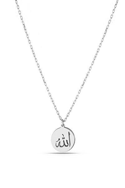 MySilvers Minimal Allah Yazılı Gümüş Kolye