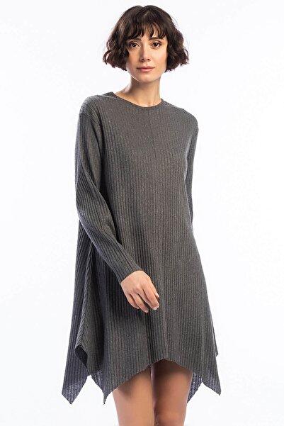 Cotton Mood Kadın Füme Kalın Fitilli Uzun Kol Çan Tunik 9361104