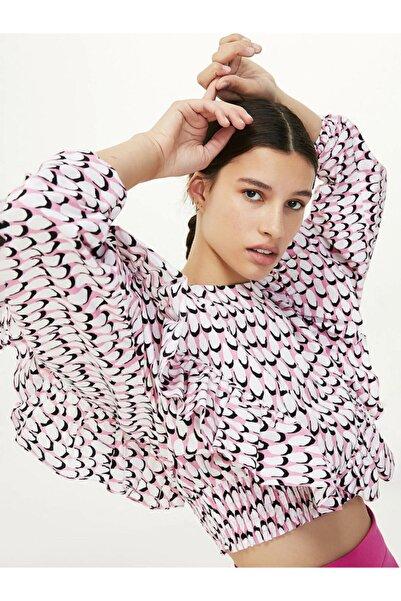 Twist Kadın Pembe Crop Bluz