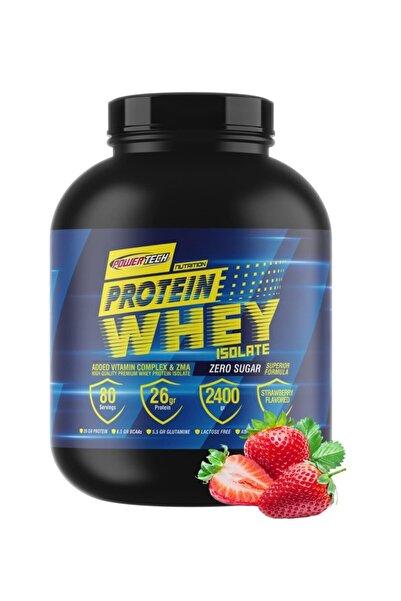 POWERTECH Çilek Aromalı Whey Isolate Protein Tozu 2400 gr