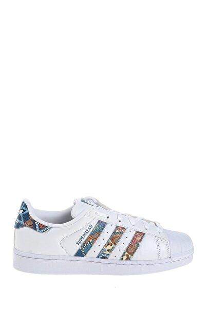 adidas Erkek Beyaz Desenli Sneaker Superstar