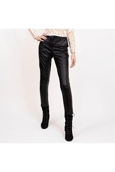 Nisan Triko Kadın Suni Deri Havuç Kesim Pantalon
