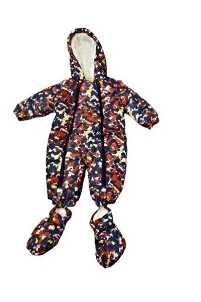 Verscon Unisex Bebek Renkli Desenli Astronot Tulum