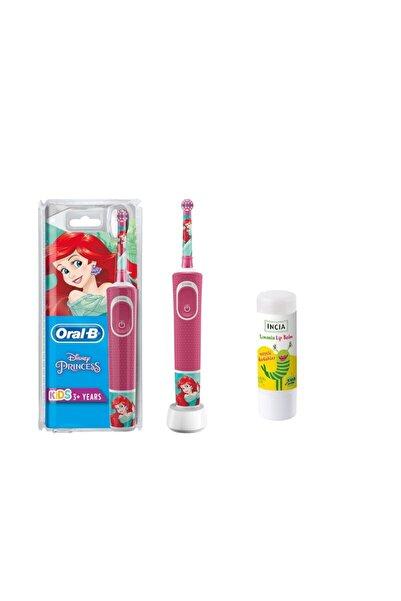Oral-B Çocuk Şarjlı Diş Fırça Disney Prenses Figürlü + Lip Balm Kids Limonlu 6 gr