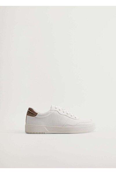 Violeta by MANGO Kadın Kırık Beyaz Platformlu Spor Ayakkabı 77050046