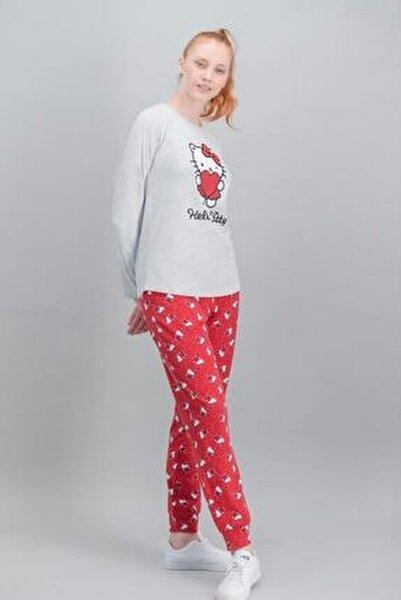 Kadın Kırmızı Lisanslı Karmelanj Pijama Takım