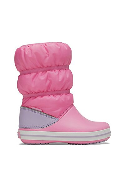 Crocs Çocuk Winter Puff Boot Kids - Pink Lemonade/lavender