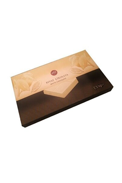 Elit Çikolata Elit Beyaz Çikolata Kuvertür 2.5 Kg