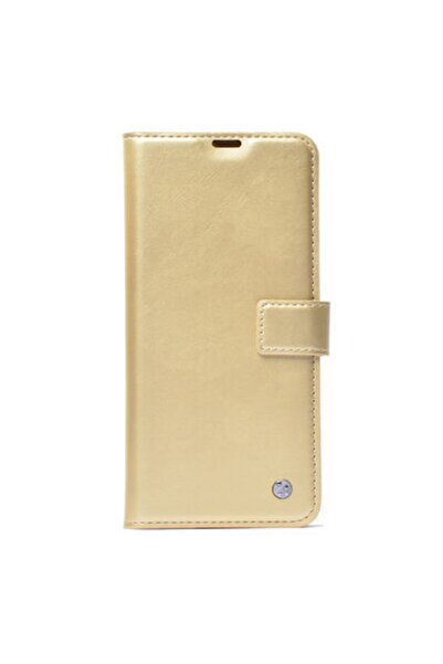 Pickcase Apple Iphone 11 Kılıf Standlı Kapaklı Kopçalı Kılıf Gold