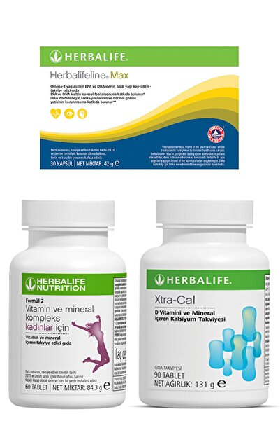 Herbalife Kadın Vitamini Extra-cal Kalsiyum Ve Max Omega-3 Birer Adet