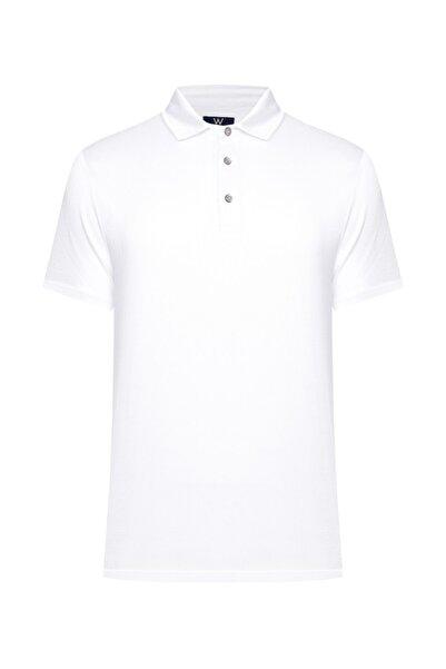 W Collection Erkek Beyaz Polo Yaka T-Shirt