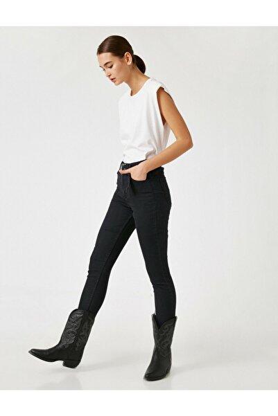 Koton Kadın Siyah Pamuklu Skinny Yüksek Bel Jean