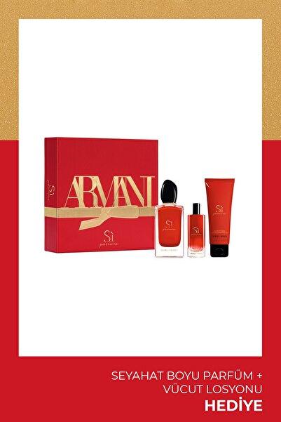Giorgio Armani Si Passione Edp 100 Ml Kadın Parfüm Seti 3614273225250