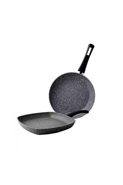 Karaca Gris Bio Granit Tava ve Grill Seti