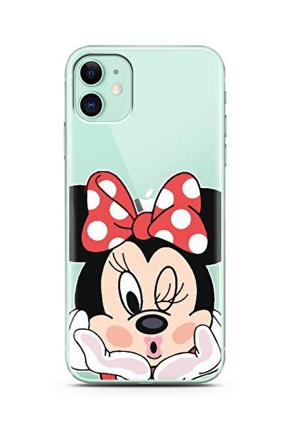 Spoyi Minne Tasarımlı Süper Şeffaf Silikon Telefon Kılıfı Iphone 11