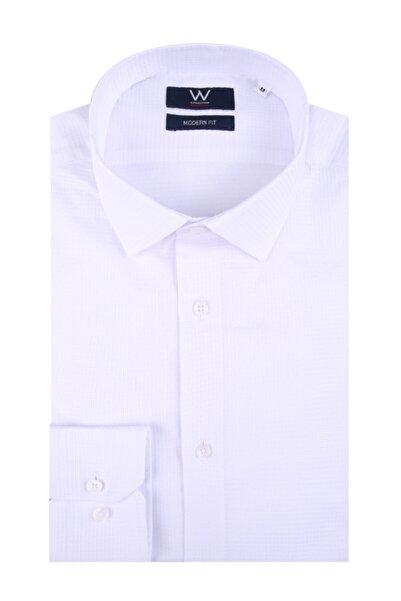 W Collection Erkek Beyaz Spor Gömlek