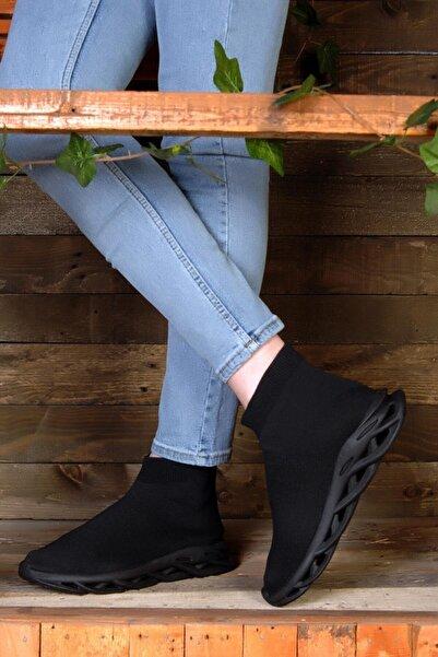 ROYJONES Unisex Filito Triko Çoraplı Yüksek Taban Ortopedik Tabanlı Bağcıksız Günlük Sneakers Spor Ayakkabı
